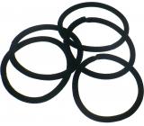 Vlasová gumička černá 5 x 0,4 cm 5 kusů
