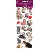 Room Decor Samolepky kočky, kočka a velké klubko 34,5 x 12,5 cm