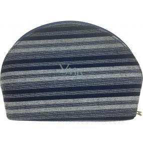 Etue Látková tmavo modro-biely prúžok 23 x 15 x 7,5 cm 70590