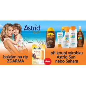 DÁREK Astrid Sun s OF10 balzám na rty 4,8 g