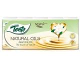 Tento Natural Oils Jasmine Oil parfumované hygienické vreckovky 4-vrstvovou 10 x 10 kusov