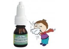 Dr. Popov Nosní Olej s Tea Tree působí příznivě při rýmě a uvolňují sliznice chrání před podrážděním pokožky 10 ml