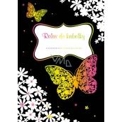 Relax do kabelky - Motýle a kvety Kreatívne zápisník pre náhodné poznámky, vždy po ruke. 16 listov, formát A6