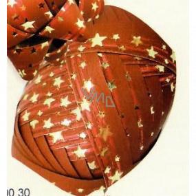 Nekupto Klubíčko Luxus červené so zlatými hviezdičkami 1 cm x 10 m KB 200 30