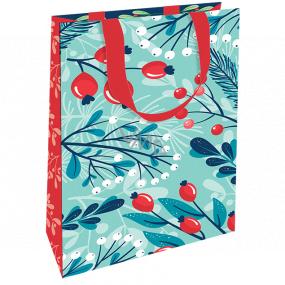 Nekupto Darčeková papierová taška luxusné 11 x 18 cm Vianočný šípky WLFS 1987