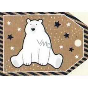 Nekupto Vianočné kartičky na darčeky Ľadový medveď 5,5 x 7,5 cm 6 kusov