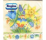 Regina Papierové obrúsky 1 vrstvové 33 x 33 cm 20 kusov Veľkonočné vajíčka, kvety