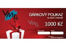 Darčekový poukaz VMD Drogéria na nákup tovaru v hodnote 1000 Sk