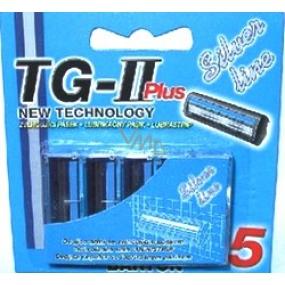 Bartoň TG-II Plus Silver Line náhradné hlavice 5 kusov