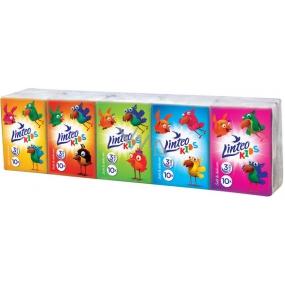 Linteo Kids mini papírové kapesníky 3 vrstvé 10 x 10 kusů