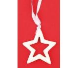 Hviezda keramická na zavesenie 7 cm