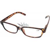 Berkeley Čítacie dioptrické okuliare +2,50 plastové hnedé tigrované 1 kus MC2125
