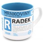 Nekupto Hrnkoviny Hrnček s menom Radek 0,4 litra
