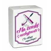 Albi Pokladnička keramická tehlička Ženské nevyhnutnosti 11,8 x 10 x 5 cm