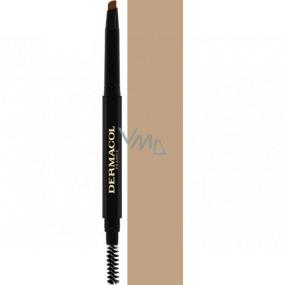 Dermacol Eyebrow Perfector Automatic ceruzka na obočie s kefkou 01 3 g
