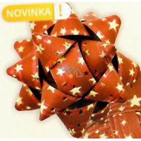 Nekupto Hviezdica strednej luxus červená so zlatými hviezdičkami HV 200 30