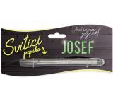 Nekupto Svietiace propiska s menom Josef, ovládač dotykových nástrojov 15 cm