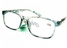 Berkeley Čítacie dioptrické okuliare +3,0 plast priehľadné čierne bodky 1 kus MC2181