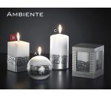 Lima Ambiente svíčka bílá hranol 65 x 120 mm 1 kus