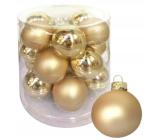 Banky sklenené zlaté sada 4 cm 18 kusov