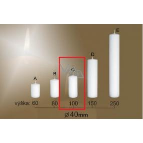 Lima Gastro hladká sviečka biela valec 40 x 100 mm 1 kus