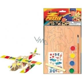 Puzzle dopravné prostriedky Lietadlo 20 x 15 cm