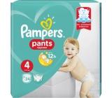 Pampers Pants 4 Maxi 9-15 kg plenkové kalhotky 24 kusů