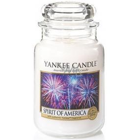 Yankee Candle Spirit Of Amerca - Duch Ameriky vonná sviečka Classic veľká sklo 623 g