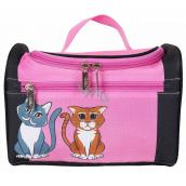 Albi Original Cestovné kozmetický kufrík Mačka 24 cm x 16 cm x 13 cm