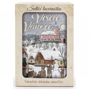 Nekupto Svietiace lucernička Josef Lada Veselé Vianoce 13,7 x 20 x 5 cm