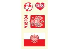 Arch Tetovací obtisky na obličej i tělo Polsko vlajka 1 motiv