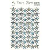 Arch Holografické dekoračné samolepky strieborné hviezdičky 1 arch