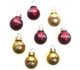 Albi Vianočné guľôčky červená Zuzka 2 cm
