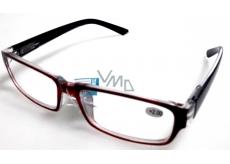 Berkeley Čtecí dioptrické brýle +2 plast vínové černé stranice 1 kus MC2062