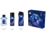 Adidas UEFA Champions League Victory Edition toaletná voda pre mužov 100 ml + deodorant sprej 150 ml + sprchový gél 250 ml, darčeková sada