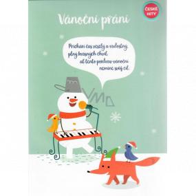 Albi Hracie prianie do obálky K Vianociam Prianie sa snehuliakom Rolničky Malý detský zbor Minutáž 14,8 x 21 cm
