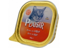 Plaisir Cat Hovězí vanička 100 g