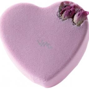 Bomb Cosmetics Ružové srdce Šumivý balistik do kúpeľa 100 g