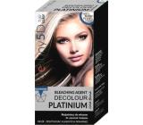 Professional Hair Care Destiny 5D Decolour Platinium biely platinový melír na vlasy 40 g + 80 ml