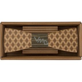 Bohemia Gifts & Cosmetics Dřevěný motýlek Kosočtverce 12,5 cm