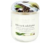 Heart & Home Biely čaj a eukalyptus Sójová vonná sviečka strednej horí až 30 hodín 110 g