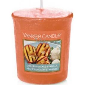 Yankee Candle Grilled Peaches & Vanilla - Grilované broskve a vanilka vonná svíčka votivní 49 g