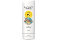 Nafigate Cosmetics Organic Sunscreen SPF15 opaľovací emulzia s prírodným UV filtrom 200 ml
