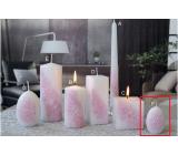 Lima Kvetinová sviečka svetlo ružová vajíčko malé 60 x 90 mm 1 kus