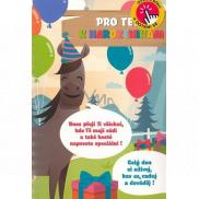 Albi Hracie želanie s efektom k narodeninám Detské so zvieratkami 14,8 x 21 cm