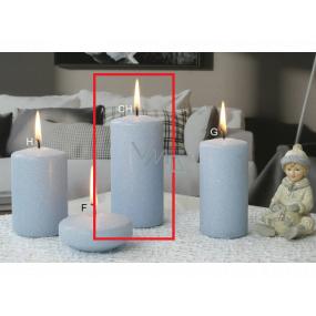 Lima Ice pastel sviečka svetlo modrá valec 60 x 120 mm 1 kus