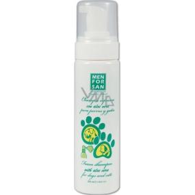 MenForSan Aloe Vera prírodná penový šampón pre psy a mačky 200 ml
