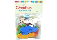 CreaFun Samolepiace dekorácie Dopravné prostriedky Eva mix farieb 50 kusov
