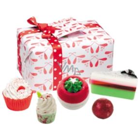 Bomb Cosmetics Vánoční polibek balistik 160 g + špalíček 50 g + kulička 30 g + košíček 180 g + mýdlo 160 g, kosmetická sada