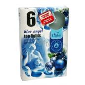Tea Lights Blue Angel s vôňou modrý anjel vonné čajové sviečky 6 kusov